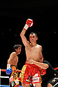 (R-L) Hugo Fidel Cazares (MEX), Tomonobu Shimizu (JPN), AUGUST 31, 2011 - Boxing : Hugo Fidel Cazares of Mexico and Tomonobu Shimizu of Japan react after the twelfth round during the WBA super flyweight title bout at Nippon Budokan in Tokyo, Japan. (Photo by Mikio Nakai/AFLO)