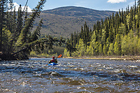 Packrafting the Charley River, Yukon Charley Rivers National Preserve, Alaska.