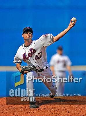 7 March 2009: New York Mets' pitcher Casey Fossum on the mound during a Spring Training game against the Washington Nationals at Tradition Field in Port St. Lucie, Florida. The Nationals defeated the Mets 7-5 in the Grapefruit League matchup. Mandatory Photo Credit: Ed Wolfstein Photo