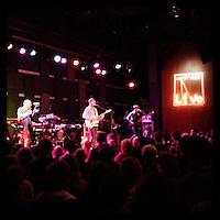 Django Django performs at the Free at Noon concert at World Cafe Live on March 8, 2013.