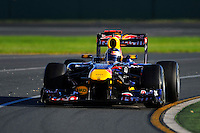 MELBOURNE, 27 MARCH - Sebastian Vettel (Germany) driving the Red Bull Racing car (1) at the 2011 Formula One Australian Grand Prix at the Albert Park Circuit, Melbourne, Australia. (Photo Sydney Low / syd-low.com)