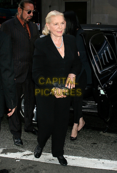 "LAUREN BACALL.The premiere of ""A Prairie Home Companion"" at the DGA theatre, New York, NY, USA..June 4th, 2006.Ref: IW.full length black jacket trousers.www.capitalpictures.com.sales@capitalpictures.com.©Capital Pictures"