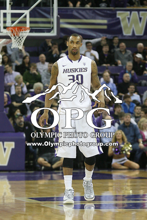 Jan 31, 2013:  Washington's Desmond Simmons against Arizona.  Arizona defeated Washington 57-53 at Alaska Airlines Arena Seattle, Washington...