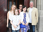 Aoife Finn Gallagher from LeCheile school who was confirmed in St Mary's church pictured with her family. Photo:Colin Bell/pressphotos.ie