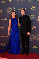 PASADENA - APR 30: Courtney Hope, Chad Duell at the 44th Daytime Emmy Awards at the Pasadena Civic Center on April 30, 2017 in Pasadena, California