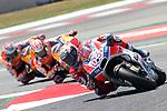 Gran Premi Monster Energy de Catalunya 2017.<br /> Moto GP Race.<br /> Andrea Dovizioso, Dani Pedrosa &amp; Marc Marquez