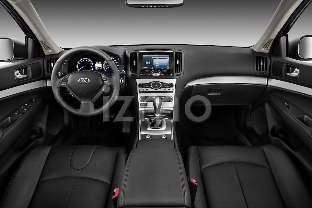 Straight dashboard view of a 2011 Infiniti G25 Journey Sedan