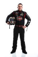 Feb 8, 2017; Pomona, CA, USA; NHRA funny car driver Jonnie Lindberg poses for a portrait during media day at Auto Club Raceway at Pomona. Mandatory Credit: Mark J. Rebilas-USA TODAY Sports
