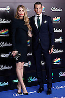 Macaco and Kira Miro and Rocio Escalona attends 40 Principales awards photocall  2012 at Palacio de los Deportes in Madrid, Spain. January 24, 2013. (ALTERPHOTOS/Caro Marin) /NortePhoto
