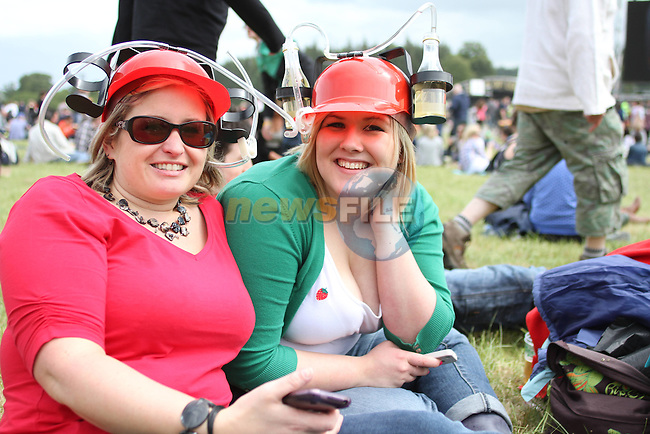Christina Prise and Karen Smyth from Ballinahinch at Slane Concert 2011..(Photo credit should read Jenny Matthews www.newsfile.ie)....This Picture has been sent you under the conditions enclosed by:.Newsfile Ltd..The Studio,.Millmount Abbey,.Drogheda,.Co Meath..Ireland..Tel: +353(0)41-9871240.Fax: +353(0)41-9871260.GSM: +353(0)86-2500958.email: pictures@newsfile.ie.www.newsfile.ie.
