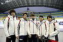 (L-R) Ryosuke Sakazume, Takahiro Fujimoto, Sayuri Yoshii, Ayuko Ito, Yui Sakai (JPN), .JANUARY 31, 2011 - Short Track : .during the practice time during the 7th Asian Winter Games in Astana, Kazakhstan.  .(Photo by AFLO) [0006]