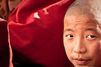 A young monk watching a debate at Domkar Monastery.  ...Brian Hirschy Photograph :  Lights//Camera//Joy.www.brianhirschy.com ( http://www.brianhirschy.com )