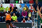 05.10.2019, Halle Berg Fidel, Muenster<br />Volleyball, Bundesliga Frauen, Normalrunde, USC MŸnster / Muenster vs. Allianz MTV Stuttgart<br /><br />Angriff Channon Thompson (#5 Stuttgart)<br /><br />  Foto © nordphoto / Kurth