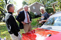 10/16/10 9:29:33 AM -- Springfield, PA<br />  -- Republican Congressional candidate Pat Meehan (C) and Tom McGarrigle (L) speak with voter Marguerite Kelly, 58 at her home October 16, 2010 in Springfield, Pennsylvania. Meehan faces incumbent Democrat Bryan Lentz in the Nov. 2 general election. --  Photo by William Thomas Cain/Cain Images