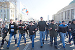 Mcc0053565 . Daily Telegraph<br /> <br /> A planned pro Ukraine rally was cancelled as pro Russia supporters violently intimidated those brave enough to voice their support for the new western leaning Kiev government .<br /> <br /> Donetsk 9 March 2014
