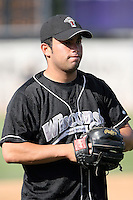 August 17 2008:  Jose Escalona of the Wisconsin Timber Rattlers, Class-A affiliate of the Seattle Mariners, during a game at Philip B. Elfstrom Stadium in Geneva, IL.  Photo by:  Mike Janes/Four Seam Images