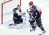 Rob Nichols (UConn - 31), Johnny Austin (UConn - 6), Danny O'Regan (BU - 10) - The Boston University Terriers defeated the visiting University of Connecticut Huskies 4-2 (EN) on Saturday, October 24, 2015, at Agganis Arena in Boston, Massachusetts.