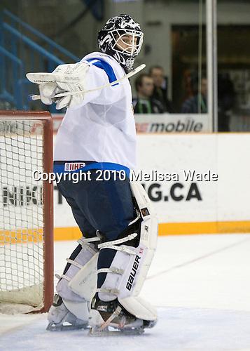 Joni Ortio (Finland - 1) - Team USA defeated Team Finland 6-2 on Saturday, January 2, 2010, at Credit Union Centre in Saskatoon, Saskatchewan during the 2010 World Juniors quarterfinals.