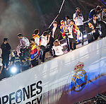 The Real Madrid team celebrate with fans the football King's Cup tittle at Cibeles Square in Madrid. On April 17, 2014. The Real Madrid won against Barcelona at Mestalla Stadium in Valencia. Photo by Helen de Yela/DyD Fotografos / photocall3000