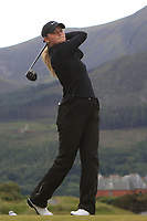 Shannon McWilliam (Aboyne) on the 2nd tee during Round 2 of the Women's Amateur Championship at Royal County Down Golf Club in Newcastle Co. Down on Wednesday 12th June 2019.<br /> Picture:  Thos Caffrey / www.golffile.ie