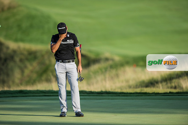 Jason Day (Aust) is all emotion after winning the 2015 USPGA Championship at Whistling Straits (Photo: Anthony Powter)