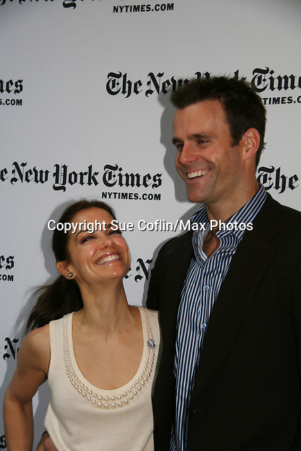 Rebecca Budig and Cameron Mathison - All My Children at 40 celebrate on January 10, 2010 at the New York Times Arts & Leisure Weekend at the TimesCenter Stage, New York City, New York. (Photo by Sue Coflin/Max Photos)