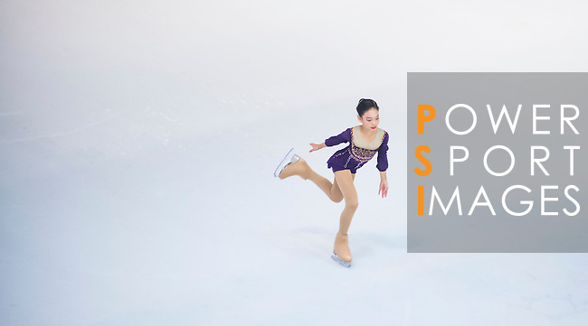 Amy Shao Ning Yang during the Asian Junior Figure Skating Challenge 2015 on October 07, 2015 in Hong Kong, China. Photo by Moses Ng/ Power Sport Images