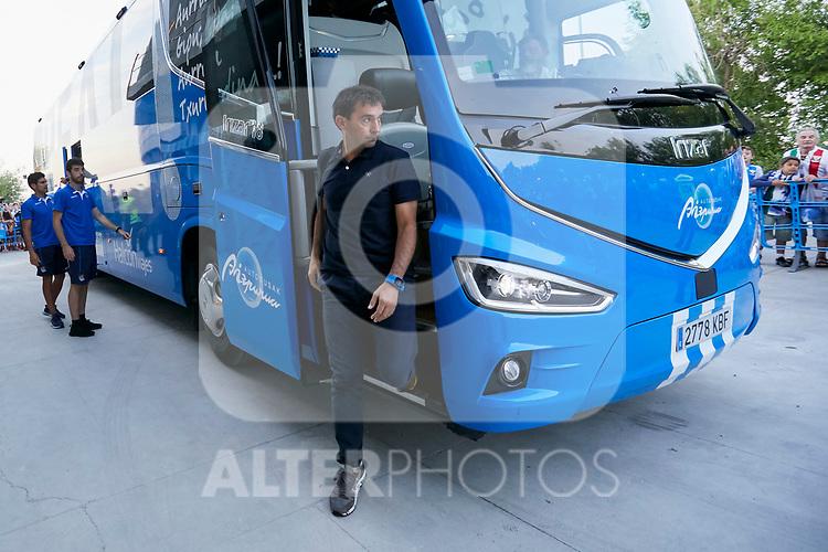 Real Sociedad's coach Asier Garitano before La Liga match. August 24, 2018. (ALTERPHOTOS/A. Perez Meca)