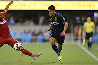 San Jose, CA - Wednesday September 27, 2017: Shea Salinas during a Major League Soccer (MLS) match between the San Jose Earthquakes and the Chicago Fire at Avaya Stadium.