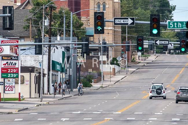 Street scenes Pueblo, Colorado with extreme telephoto lens. Taken on Aug 13, 2017