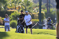 Thomas Detry (BEL) and caddy Ryan on the 16th hole during Friday's Round 2 of the 2018 Turkish Airlines Open hosted by Regnum Carya Golf &amp; Spa Resort, Antalya, Turkey. 2nd November 2018.<br /> Picture: Eoin Clarke | Golffile<br /> <br /> <br /> All photos usage must carry mandatory copyright credit (&copy; Golffile | Eoin Clarke)