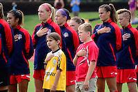 Boyds, MD - Sunday July 31, 2016: Washington Spirit, escort kids during a regular season National Women's Soccer League (NWSL) match between the Washington Spirit and Sky Blue FC at Maureen Hendricks Field, Maryland SoccerPlex.