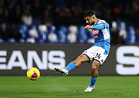 6th January 2020; Stadio San Paolo, Naples, Campania, Italy; Serie A Football, Napoli versus Inter Milan; Lorenzo Insigne of Napoli takes a shot on goal - Editorial Use