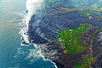 Fissure 8 eruptions and lava flows, Kapoho, Puna, Big Island, Hawaii, USA, Pacific Ocean