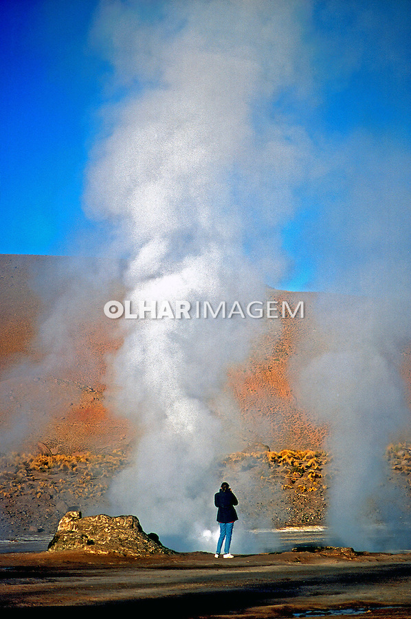 Gêiseres no Deserto do Atacama. Chile. 1998. Foto de Vinícius Romanini.