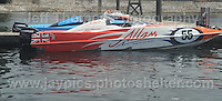 Cardiff Bay, Cardiff, South Wales - 26th July 2014 - P1 Superstock Powerboat racing.<br /> <br /> <br /> <br /> Photo by Jeff Thomas/Jeff Thomas Photography