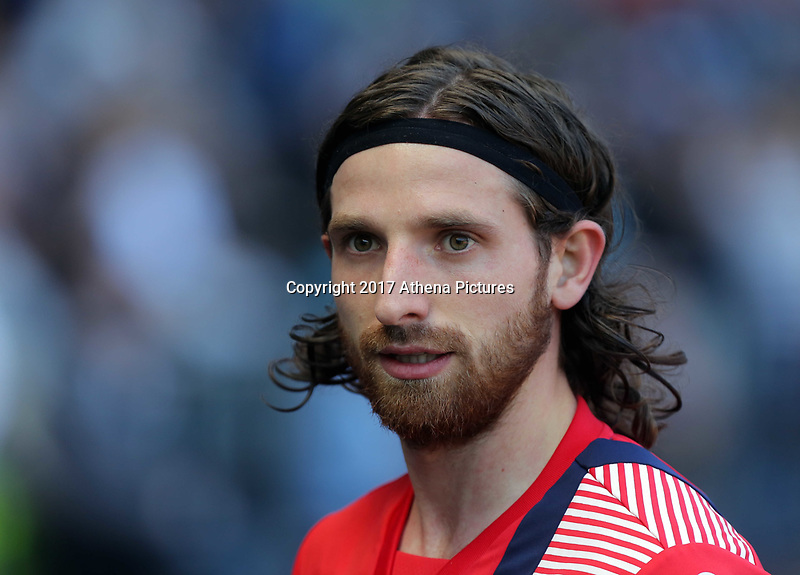 SWANSEA, WALES - APRIL 22: Joe Allen of Stoke City enters the tunnel after warming up during the Premier League match between Swansea City and Stoke City at The Liberty Stadium on April 22, 2017 in Swansea, Wales. (Photo by Athena Pictures/Getty Images)