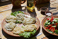 Uzbekistan, Bukhara.<br /> Traditional Manty (steamed dumplings).