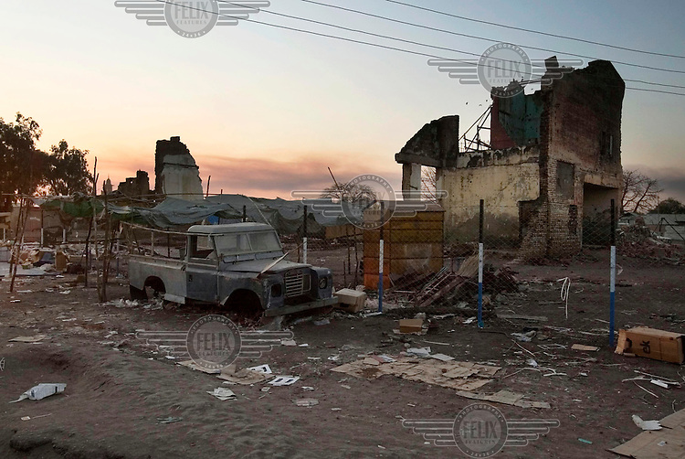 Wrecked buildings in the centre of Malakal, large parts of which were destroyed in the civil war.