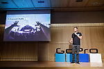 GoPro CEO Nick Woodman speaks during the presentation of company's new Hero 7 Black camera on September 25, 2018, Tokyo, Japan. The new Hero 7 Black is being promoted as a gimbal killer with its new HyperSmooth filming feature. The top of the range Black model will cost JPY 53,460 in Japan and there are two cheaper Silver and White versions which will be released at the same time. (Photo by Rodrigo Reyes Marin/AFLO)