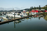 USA, Washington State, Ilwaco, the Port of Ilwaco located on the Southwest coast of Washington just inside the Columbia River bar, Jessie's Ilwaco Fish Company