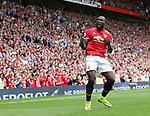 Manchester United's Romelu Lukaku celebrates scoring his sides opening goal during the premier league match at Old Trafford Stadium, Manchester. Picture date 13th August 2017. Picture credit should read: David Klein/Sportimage