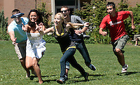 07142010- Seattle University, Students, Summer time, the Green, Administration building,