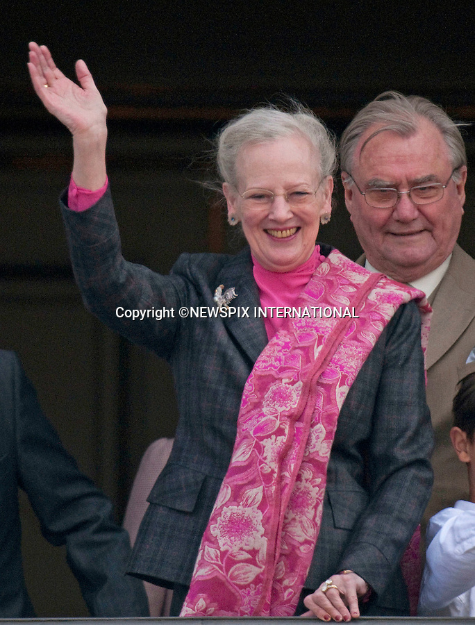 """QUEEN MARGRETHE ll.celebrated her 69th birthday, as she appeared alongside other members of the Danish Royal family on the balcony of Amalienborg Palace..The Queen was accompanied by the Prince Consort Henrik, Crown Prince Frederik, Crown Princess Mary; Prince Christian; Princess Isabella; HRH Prince Joachim, Prince Nikolai, and Prince Felix and for the first time on the balcony Princess Marie_Copenhagen, Denmark_16/04/2009..Mandatory Credit Photo: ©NEWSPIX INTERNATIONAL..**ALL FEES PAYABLE TO: """"NEWSPIX INTERNATIONAL""""**..IMMEDIATE CONFIRMATION OF USAGE REQUIRED:.Newspix International, 31 Chinnery Hill, Bishop's Stortford, ENGLAND CM23 3PS.Tel:+441279 324672  ; Fax: +441279656877.Mobile:  07775681153.e-mail: info@newspixinternational.co.uk"""