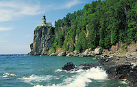 Lighthouse atop 100-ft headland on Lake Superior, Split Rock Lighthouse State Park, near Two Harbors. Two Harbors Minnesota USA Lake Superior.