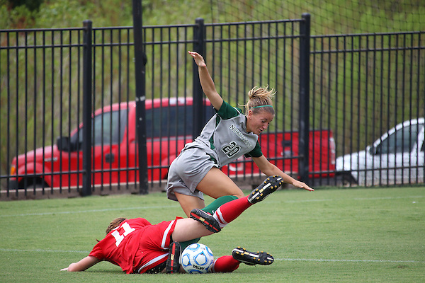 Denton, TX - AUGUST 31: Katelyn Ross #20 of the North Texas Mean Green soccer in action against University of Houston Cougars at the Mean Green Village Soccer Field on August 31, 2012 in Denton, Texas. NT won 2-1.(Photo by Rick Yeatts)