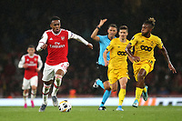 Joe Willock of Arsenal races upfield during Arsenal vs Standard Liege, UEFA Europa League Football at the Emirates Stadium on 3rd October 2019