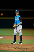 Tampa Tarpons starting pitcher Deivi Garcia (11) during a Florida State League game against the Lakeland Flying Tigers on April 5, 2019 at Publix Field at Joker Marchant Stadium in Lakeland, Florida.  Lakeland defeated Tampa 5-3.  (Mike Janes/Four Seam Images)