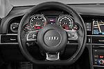 Steering wheel view of a 2008 - 2013 Audi RS6 5 Door Wagon 4WD.