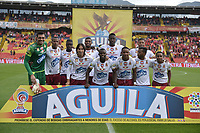 BOGOTÁ - COLOMBIA, 03-11-2018: Jugadores de Tolima posan para una foto previo al encuentro entre Independiente Santa Fe y Deportes Tolima por la fecha 18 de la Liga Águila II 2018 jugado en el estadio Nemesio Camacho El Campin de la ciudad de Bogotá. / Players of Tolima pose to a photo prior the match between Independiente Santa Fe and Deportes Tolima for the date 18 of the Aguila League II 2018 played at the Nemesio Camacho El Campin Stadium in Bogota city. Photo: VizzorImage / Gabriel Aponte / Staff